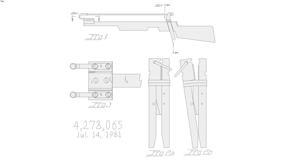Slingshot type gun
