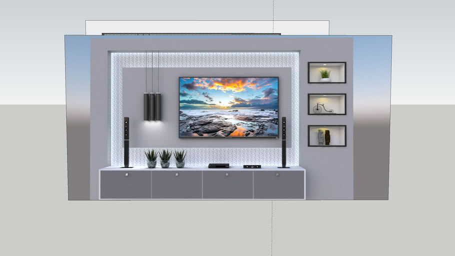 Tv Unit Modern Vray Render Ready 3d Warehouse