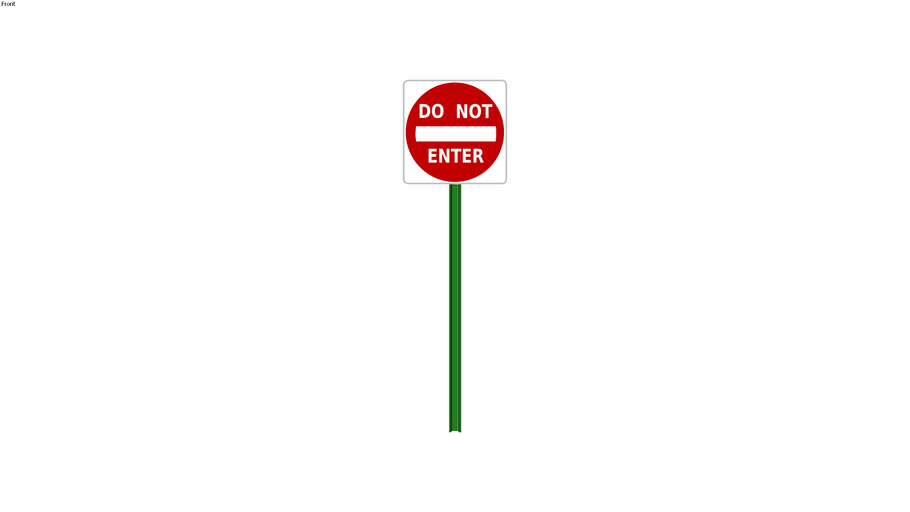 Do Not Enter Sign - Detailed