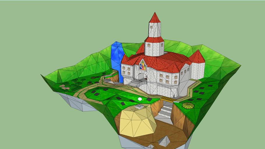 SM64 ds castle grounds