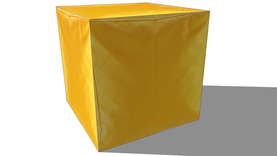 pouf ext jaune, maisons du monde, ref 130620 prix 29€