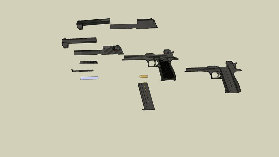 Deagle parts (read description before you download!)