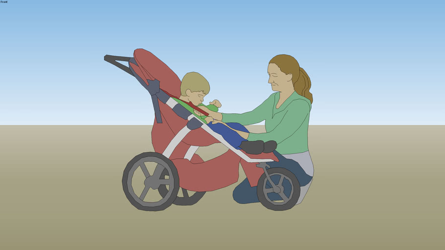 Mom and Stroller