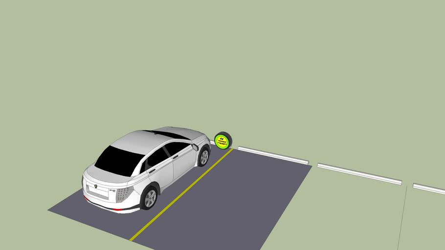 Inovasi parkir kereta & papan tanda
