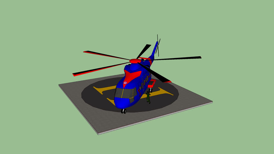 Helicopter with Helipad