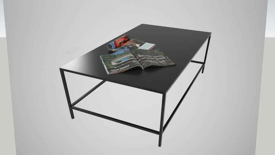 tavolino caffè ferro nero 120x70x42