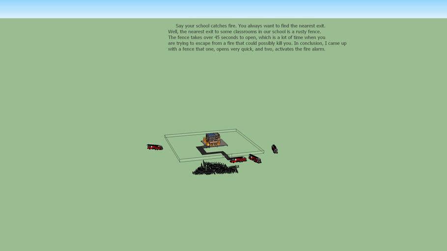 Fire safety fence model