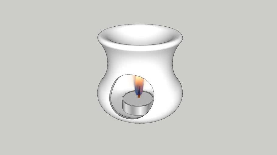 Aromatherapy Oil Burner - Vray Ready
