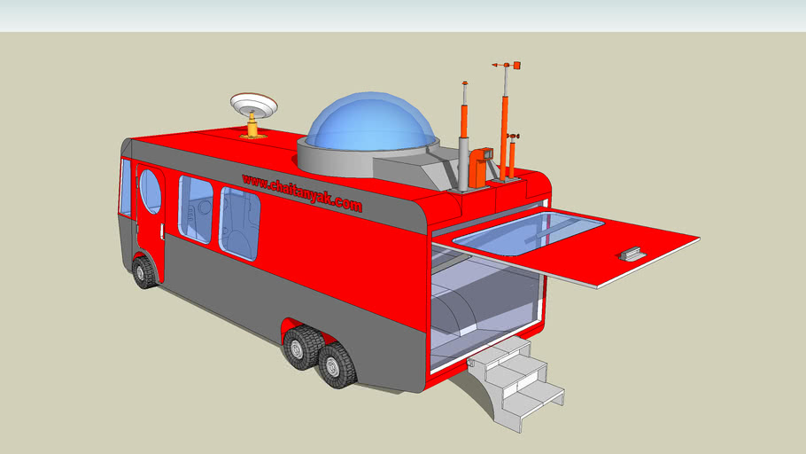 metereological department mobile base caravan