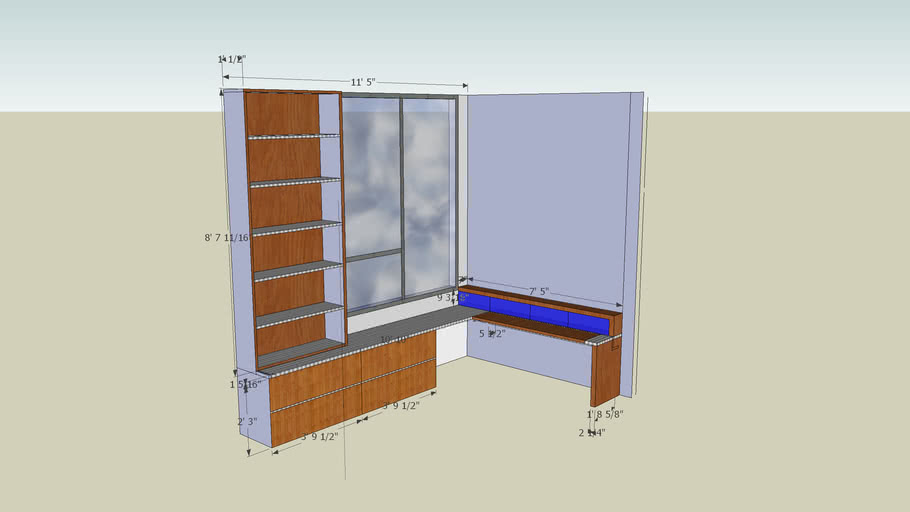Home Office - Built in cabinets