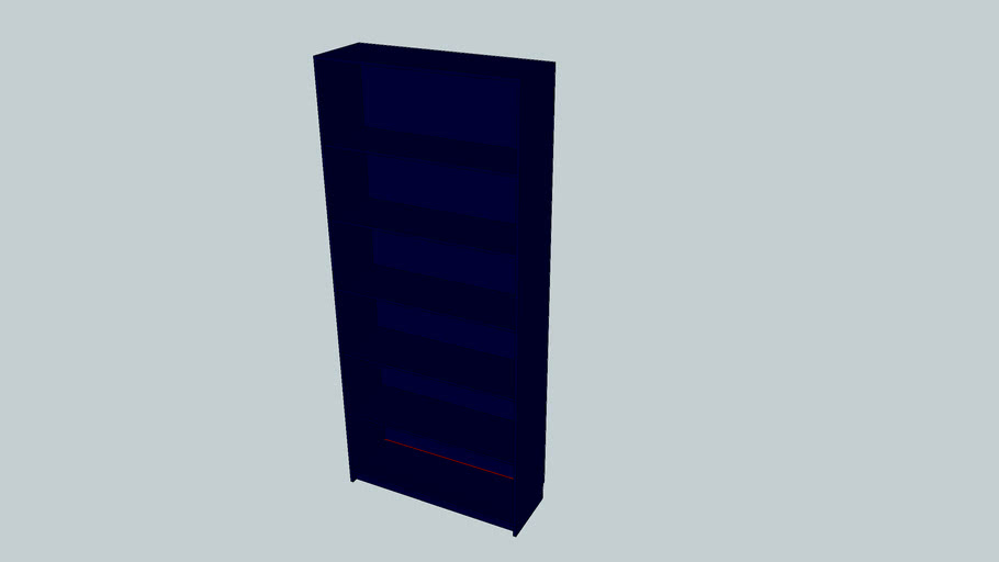 IKEA Billy Bookcase (Blue)