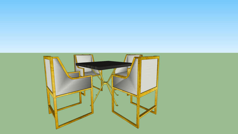 DINING TABLE AND CHAIRS (MODEL #1)