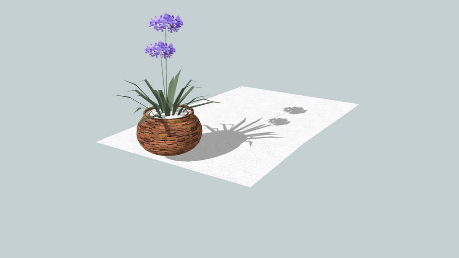 Vaso de planta redondo de pedra