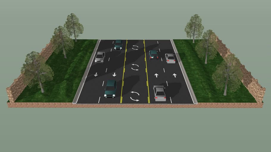 5 Lane Typical Section
