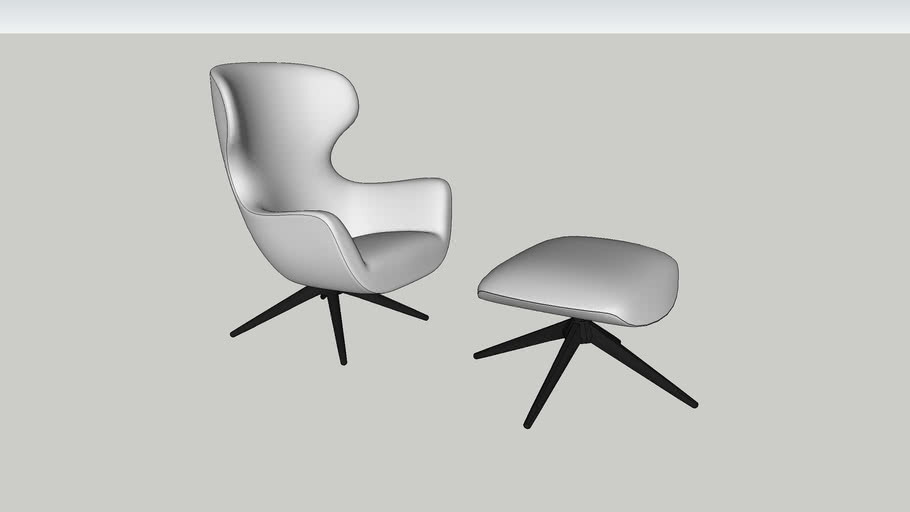 Poliform Mad Joker Chair & Ottoman