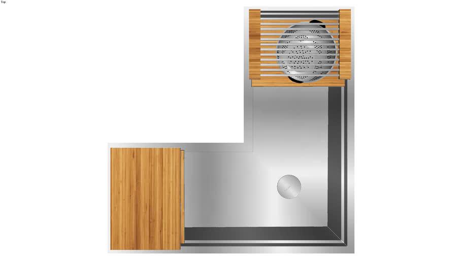 Ideal Corner Workstation 4X4C (IWS 4X4C BA) Outside Install