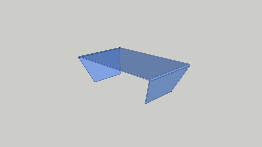 BO Concept glass coffee table