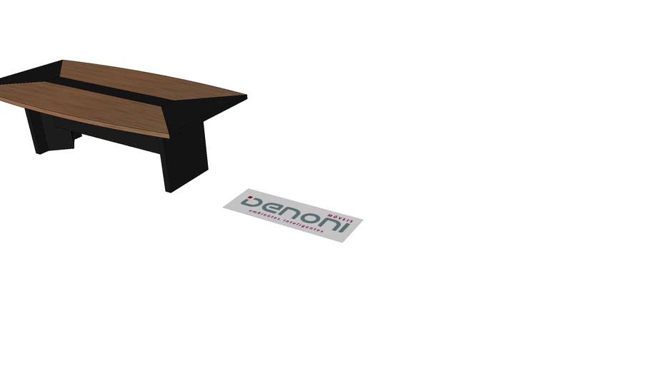 mesa de reunião 240x120x74