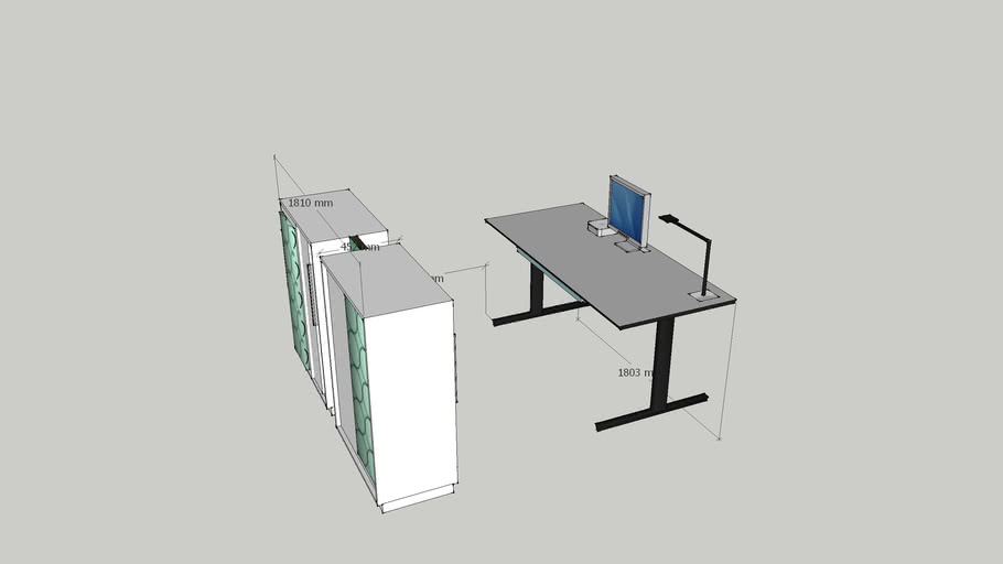 Cabinet and office desk