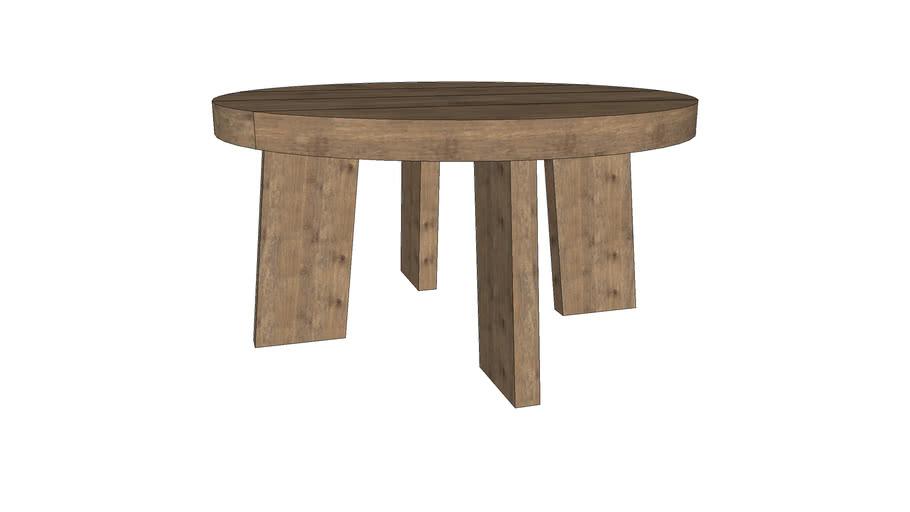 Teak Warehouse - Block Round Reckauned Teak Coffee Table