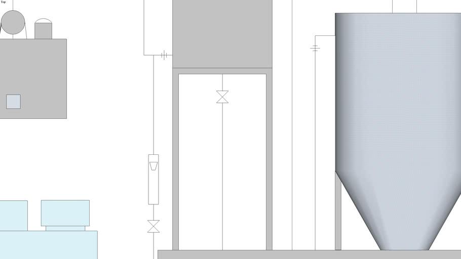 工业废水处理装置三维图