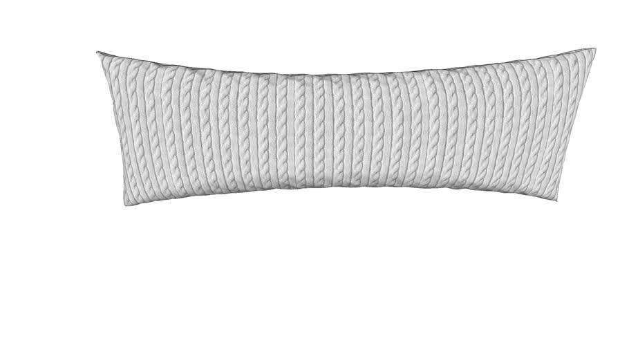 """14"""" x 40"""" lumbar pillow gray knit texture"""