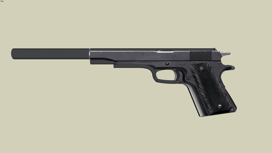 colt m-1911 with silencer