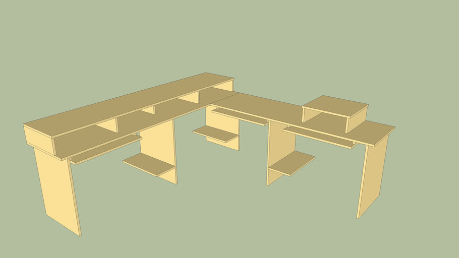 Mesa para 3 Computadores