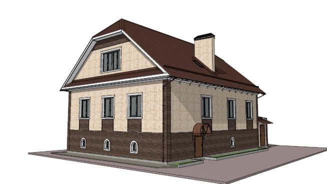Пример отделки фасада