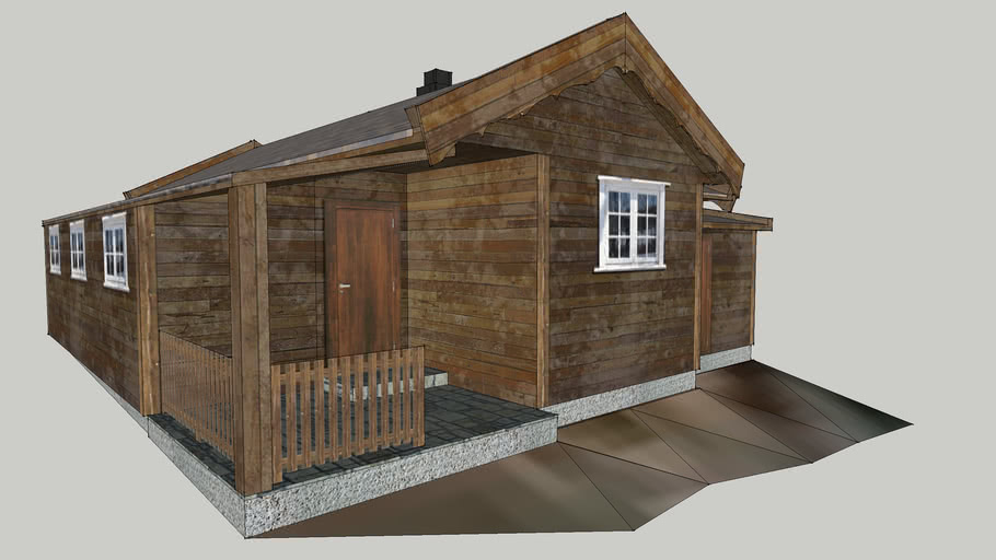 Traditional Norwegian Wooden Cabin