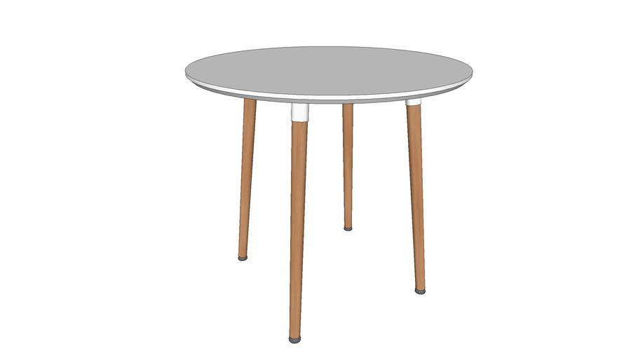 Ofm 161 Collection Mid Century Modern 32 Round Dining Table 3d Warehouse