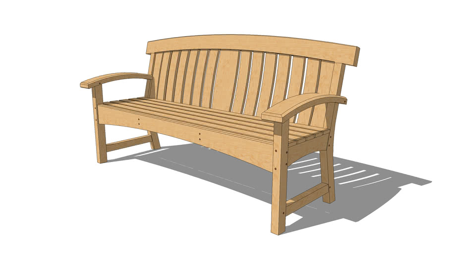 Hoopback Garden Bench