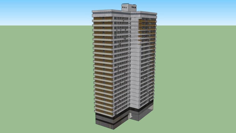 Новый Арбат - жилые башни по чётной стороне (дом 22)