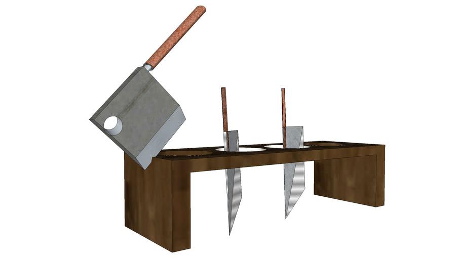 Medieval knife rack