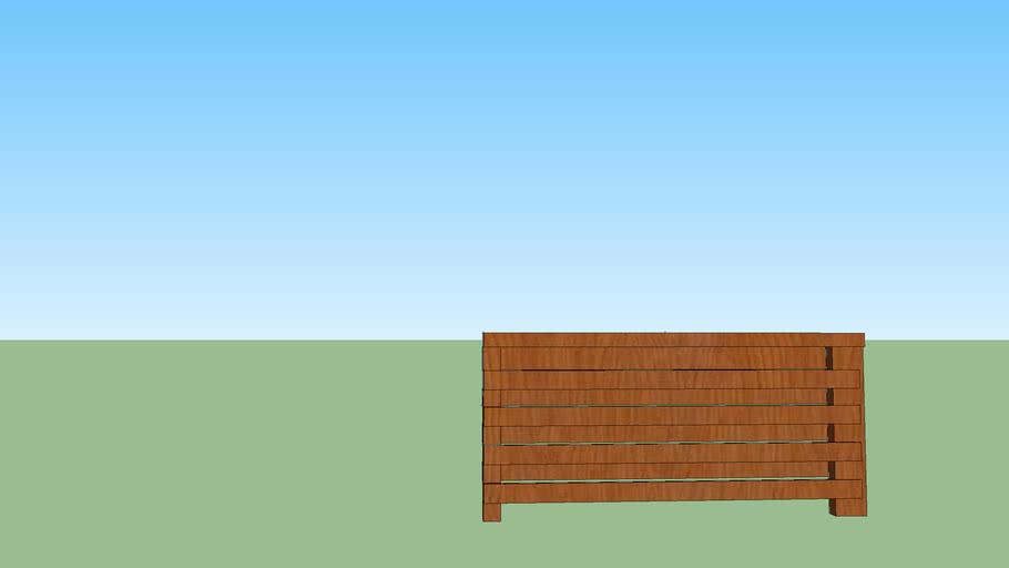 rosp separe in legno con tavole alternate