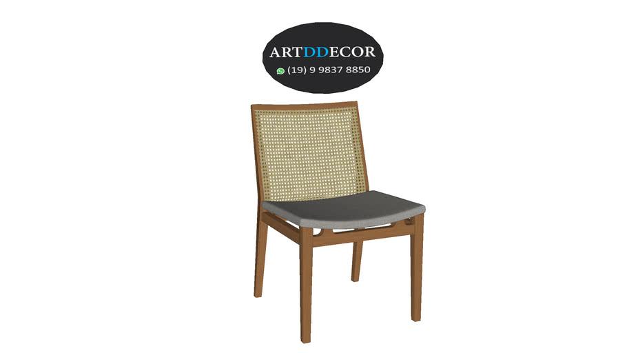 Cadeira de Jantar Palha Sextavada