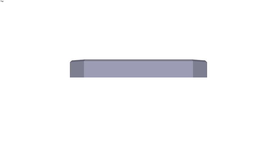 Grey cast-iron base plate - 200 x 25 mm