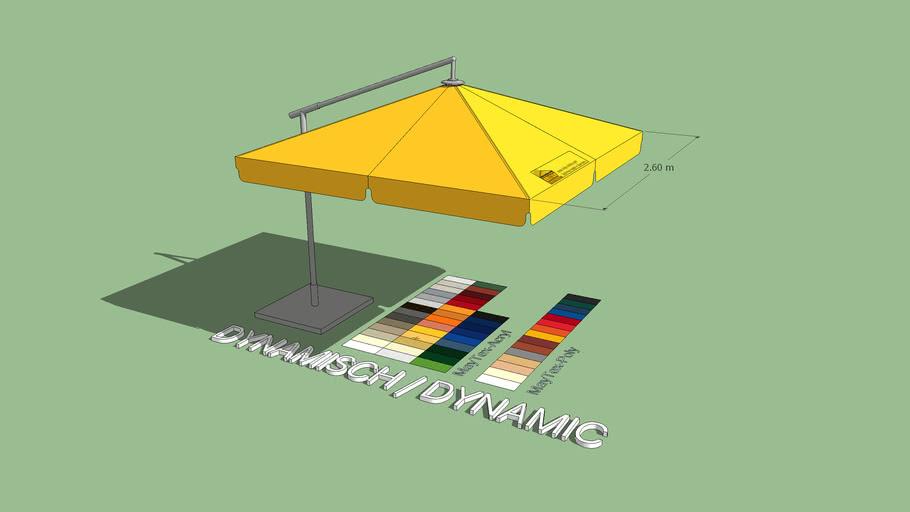 2,6 x 2,6m DACAPO quadratisch / square sizes