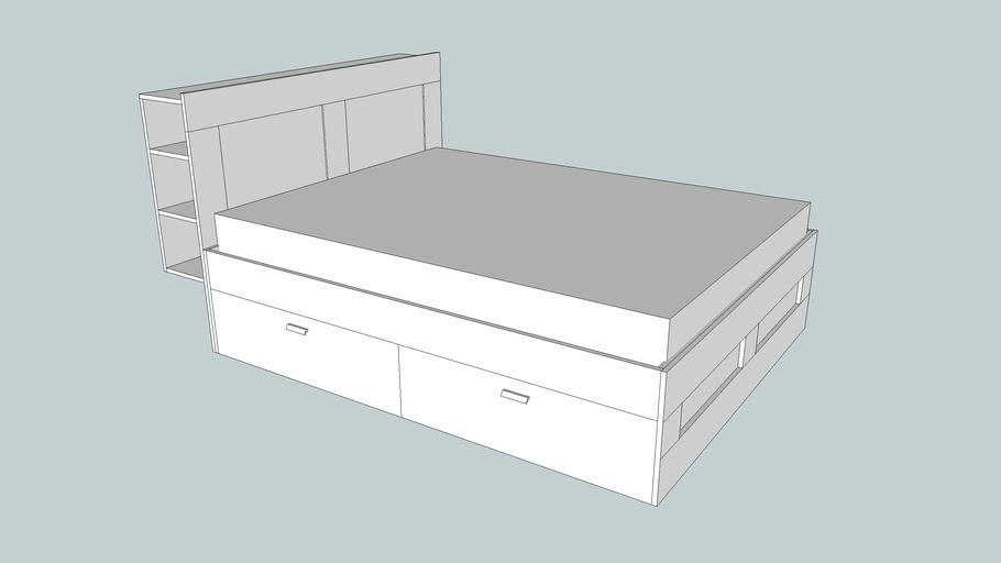 Ikea Brimnes Bed Frame And Headboard, Ikea Bed Frame With Storage Brimnes