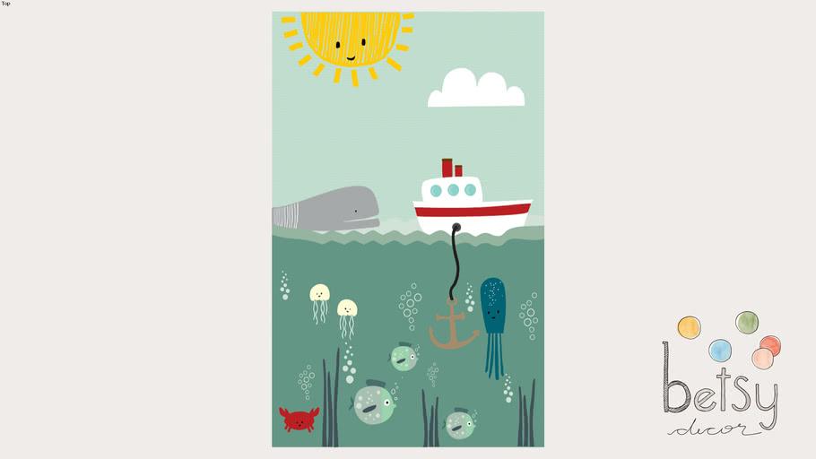 Betsy Decor - Playmat Fundo do Mar