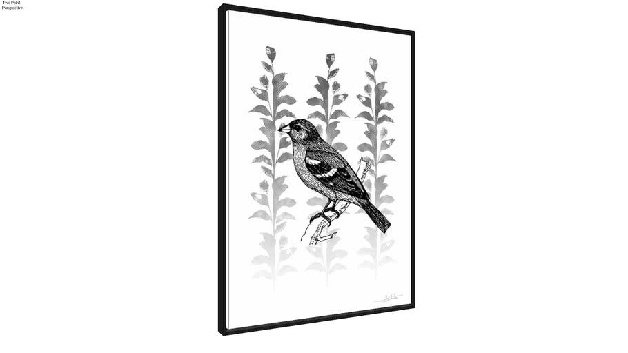 Quadro Silk Birds III