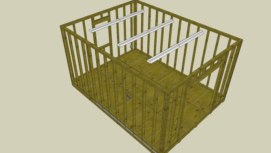 12x16 shed floor and wall framing