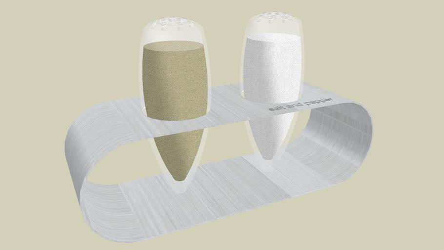 EuroDesign Salt and Pepper Shakers