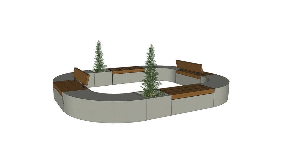 Marshalls Metrolinia Modular Concrete Seating