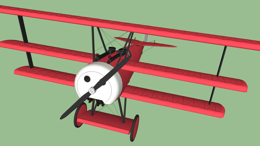 low poly airplane