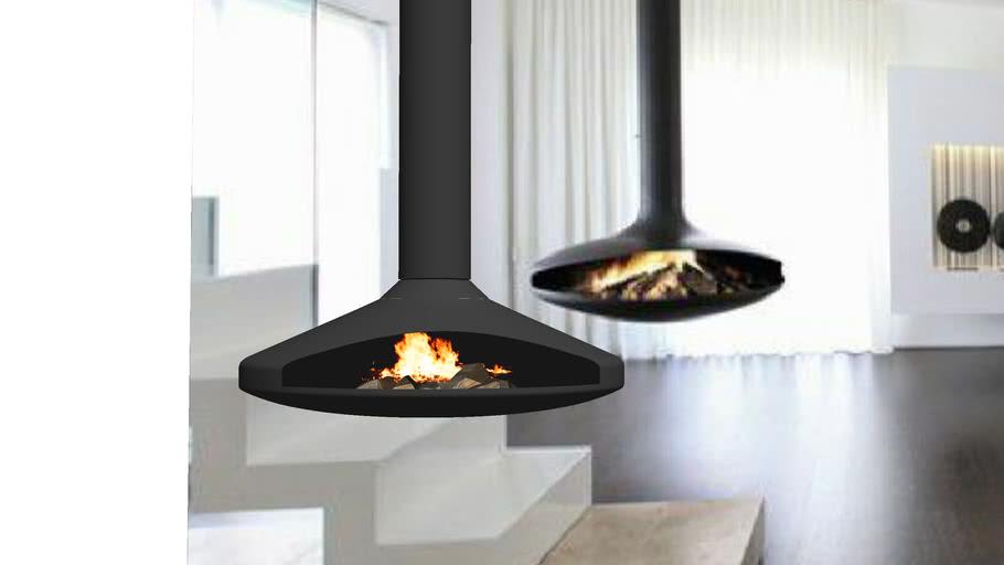 Modern Hanging Fireplace Long 3d Warehouse