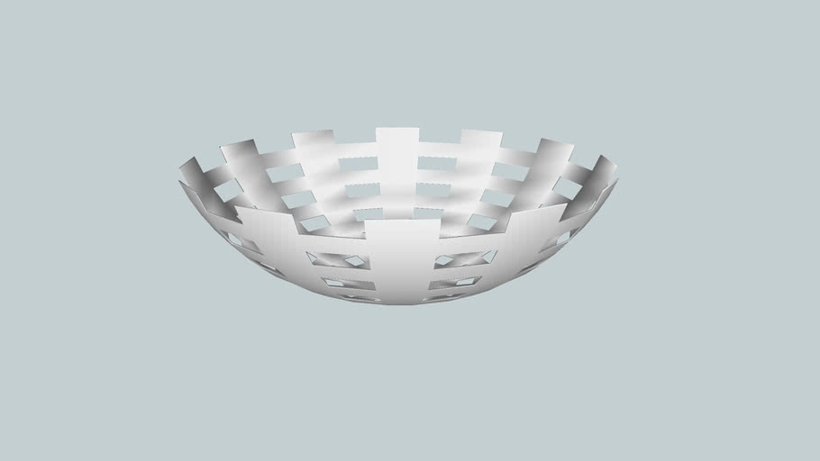 Modern aluminum bowl