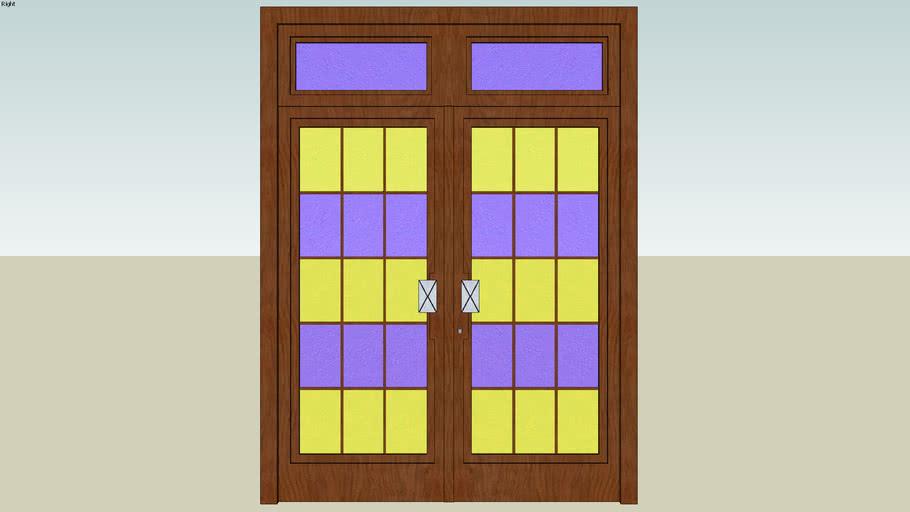 Front Wood/Glass Door