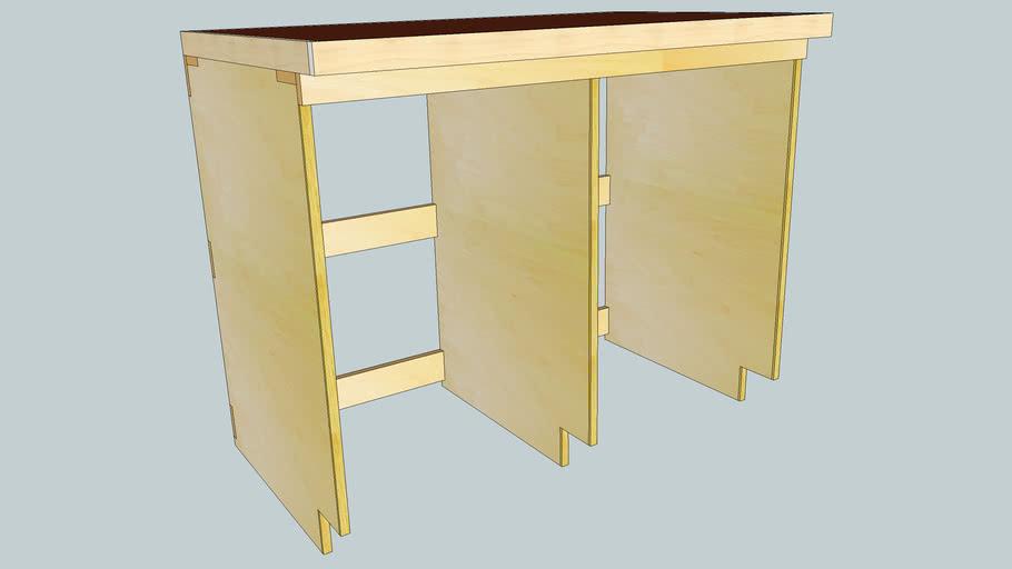 4'/2-bay workbench