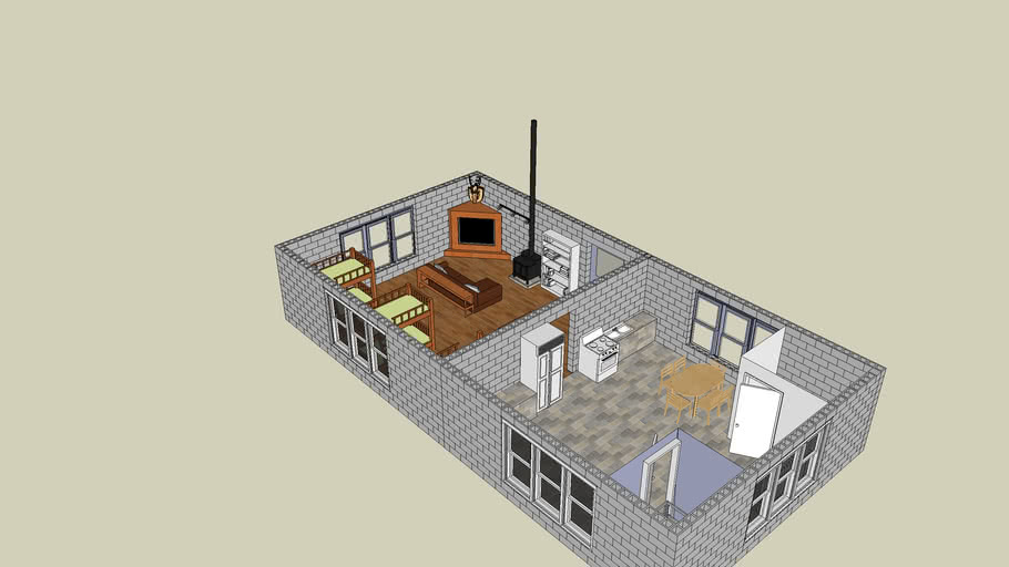 cinderblock cabin